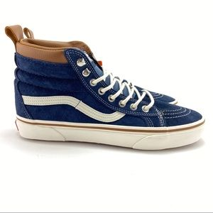 VANS Men's Sk-8 Hi MTE Blue Skate Shoes Size 9